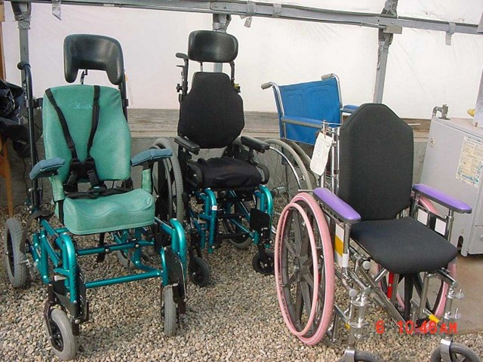 examples of inmate refurbished wheelchairs - Wheel Chairs