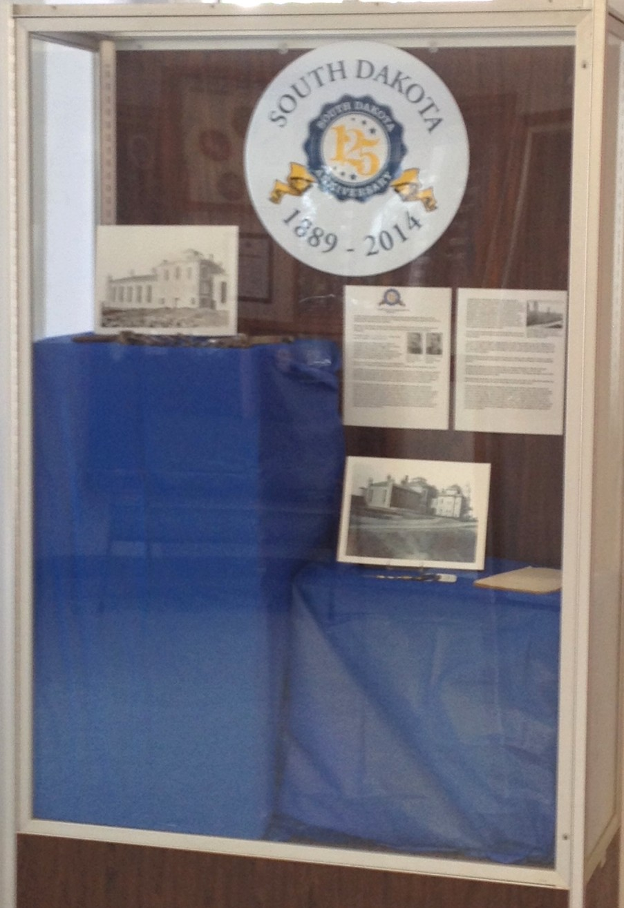 A display case featuring the Penitentiary information, historic photos and items is available in the main lobby of the State Penitentiary.