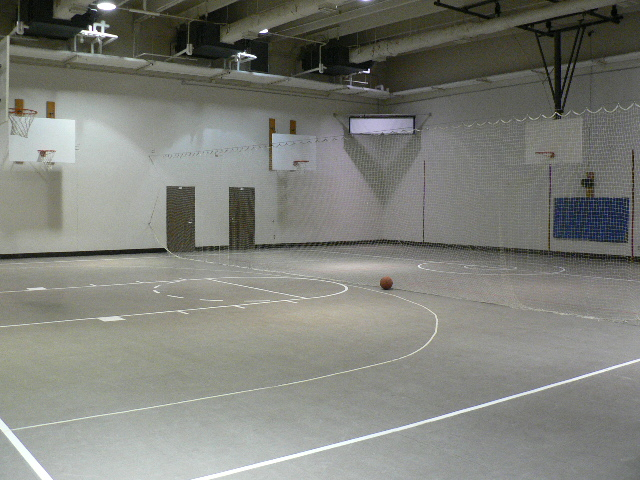 The gymnasium at the Jameson Annex
