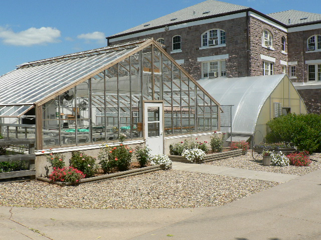 Exterior view of the greenhouse