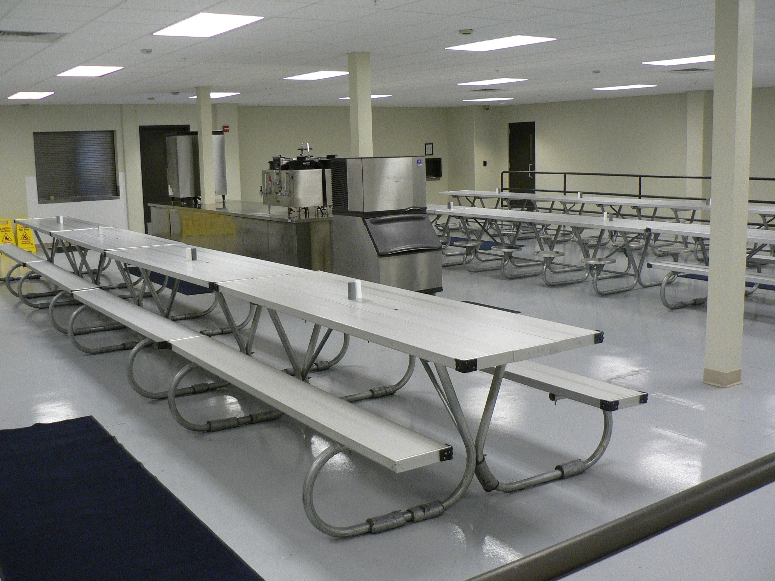 The dining room of the Rapid City Minimum Unit.