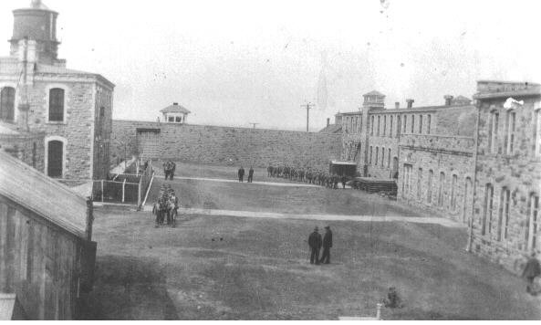 A view of the yard at the State Penitentiary