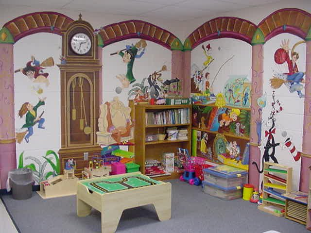The play area of the visit room.