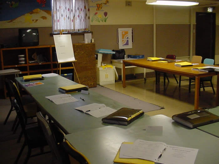 A view of a classroom at the Yankton Minimum Unit.